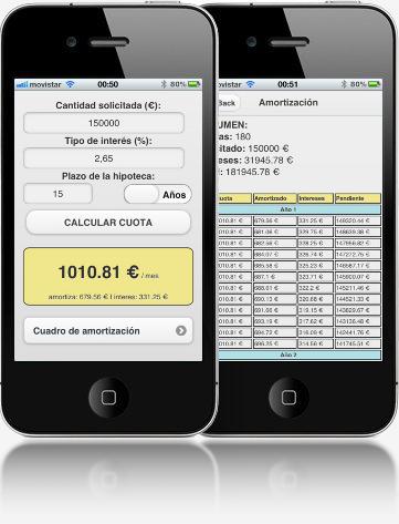 calculadora de hipoteca para ios y android